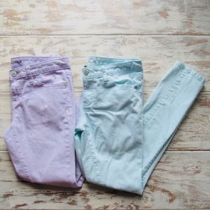 Mossimo Sz 6 Skinny Jeans Blue & Lavender